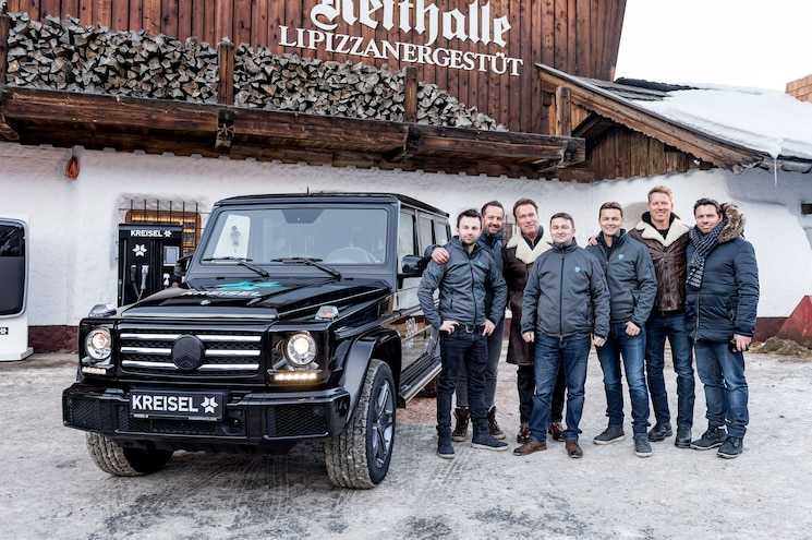 Arnold Schwarzenegger Picks Up Electric G-Wagen In Austria