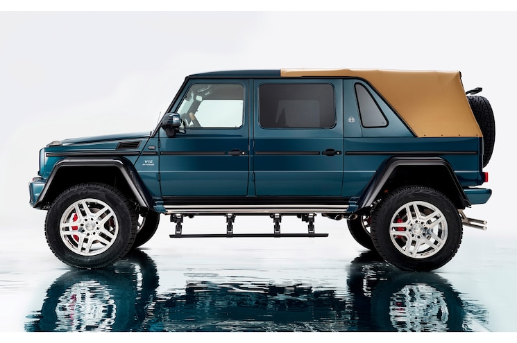 2017 Mercedes Maybach G650 Landaulet Side Profile View Top Up