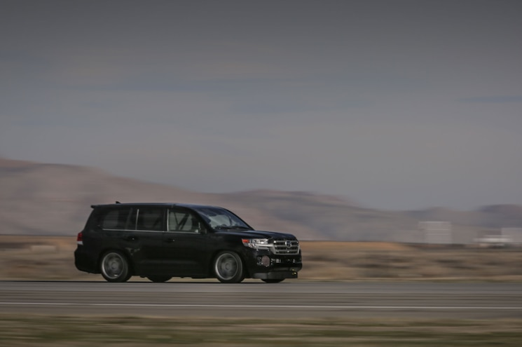 2017 Toyota Land Speed Cruiser Record Front Quarter At Speed