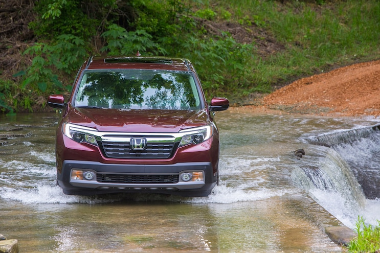 Honda Ridgeline In Water
