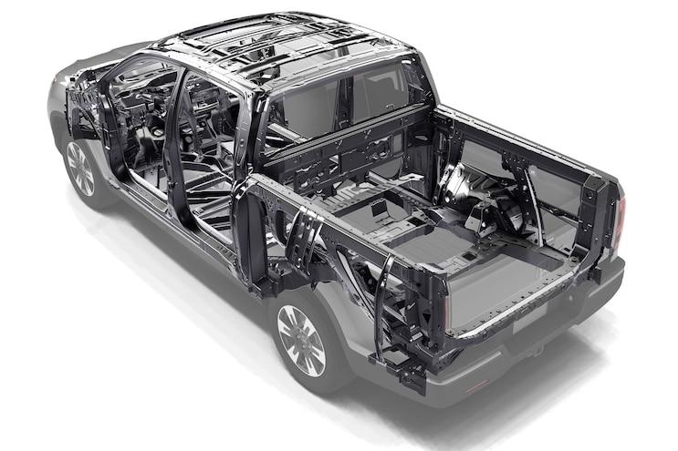 Honda Ridgelines Frame Rear View