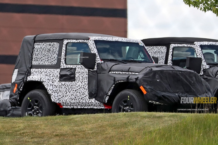 SPIED: 2018 Jeep Wrangler JL Two-Door With Limited Camo