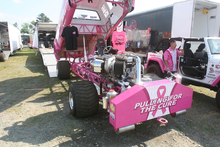 Rudys Season Opener 2017 Pink White Pulling Truck Body Up