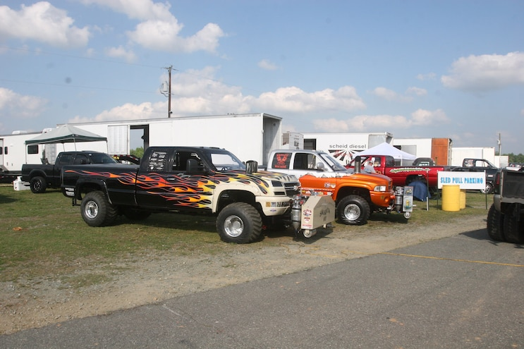 Rudys Season Opener 2017 Pulling Trucks Parked Pit Area
