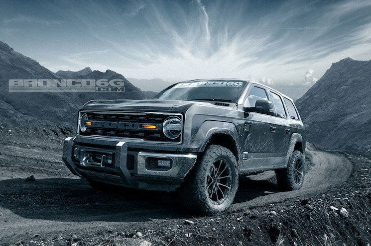 2020 Ford Bronco Four Door Front Quarter Low Grey