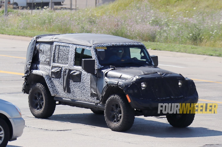 SPIED: 2018 Jeep Wrangler JL Unlimited Retains Folding Soft Top Option