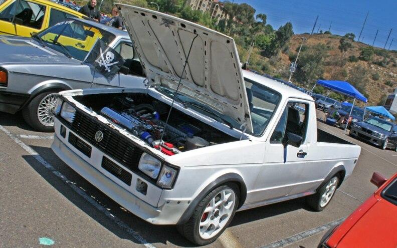 socaleuro Meet 2009 Volkswagen Caddy Pickup Front View