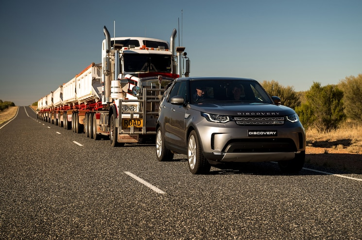 2018 Land Rover Discovery Diesel Tows 121-Ton Semi in Australian Outback