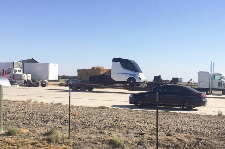 Tesla Semitruck Big Rig Closeup