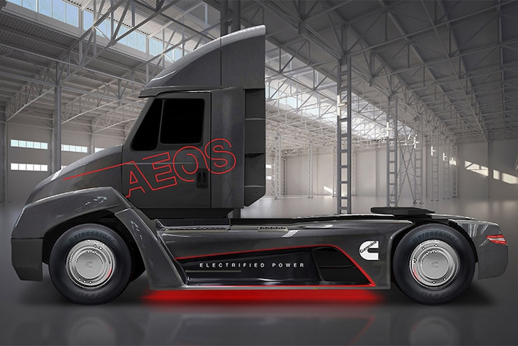 Auto News 8 Lug Work Truck Cummins Aeos Electric Semitruck