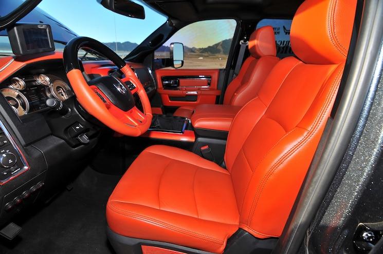 2014 Dodge Ram 3500 Pumpkin Spice Interior