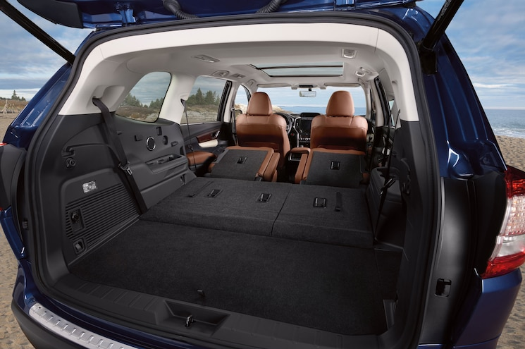 2019 Subaru Ascent Touring Interior Cargo Seats Folded