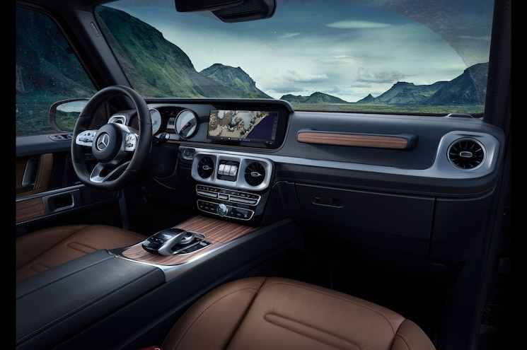 2019 Mercedes Benz G Class Interior Cockpit Espresso Brown