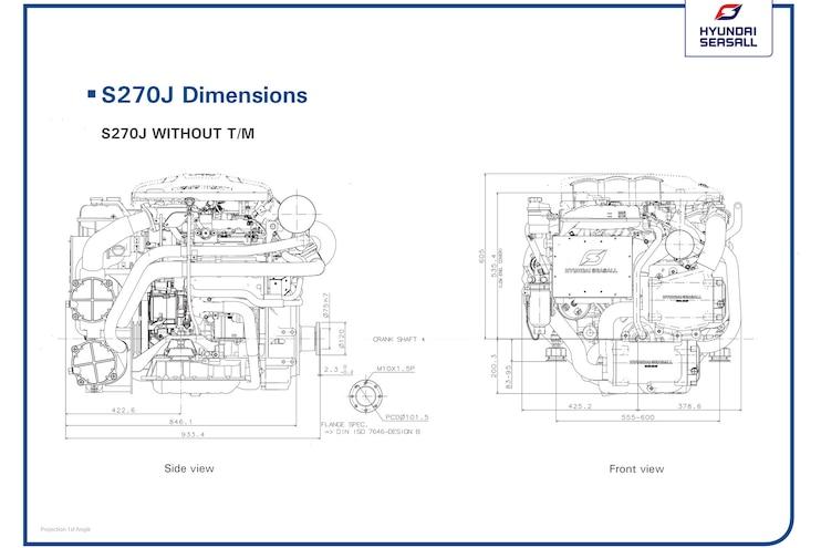 Hyundai SeasAll S270 Diagram Dimensions
