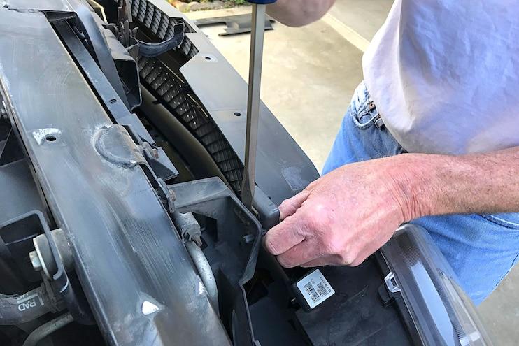 B M SuperCooler Transmission Cooler Install 04