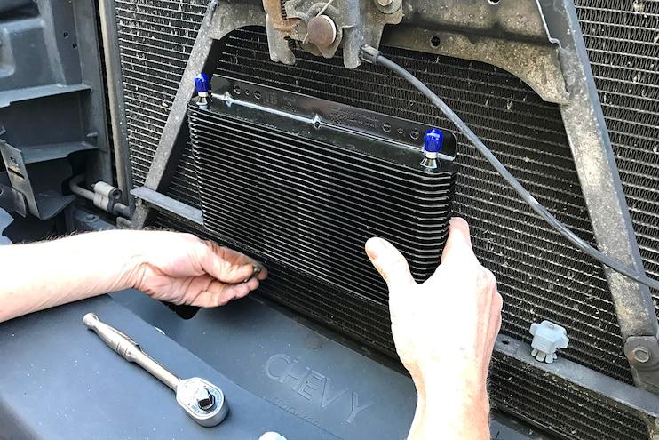 B M SuperCooler Transmission Cooler Install 09