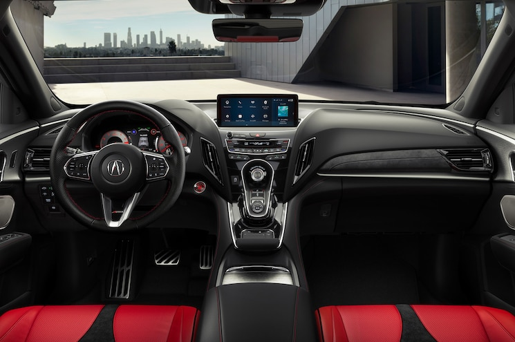 2019 Acura Rdx A Spec Interior Dashboard Red Leather