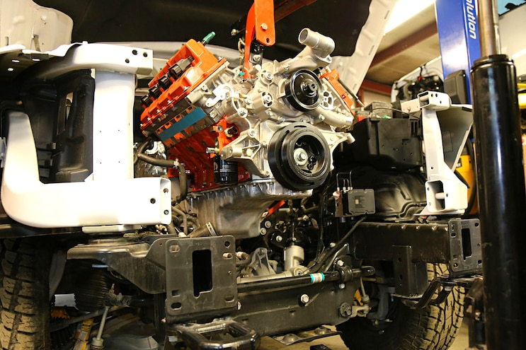 Ultimate Mopar Swap- Installing a 700hp Hellcat Crate Engine in a