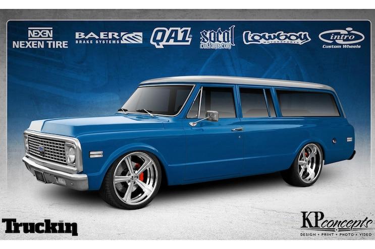 Radical Renderings KP Concepts 1971 Chevrolet Suburban