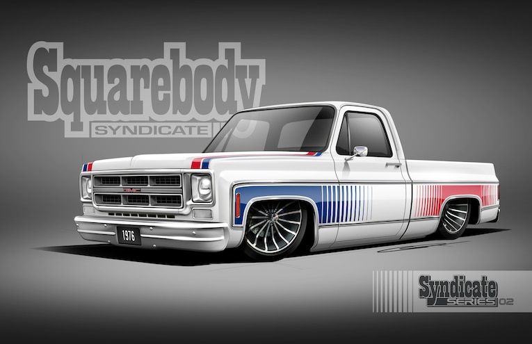 Squarebody Syndicate 1975 GMC Indy 500 Tribute Truck Royal Purple SEMA 2018 03