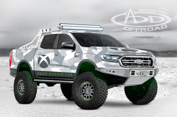 2019 Ford Ranger Sema Addictive Desert Designs Xbox