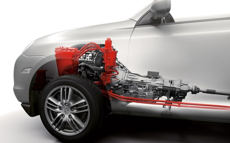 2011 Porsche Cayenne S Hybrid engine And Transmission Diagram