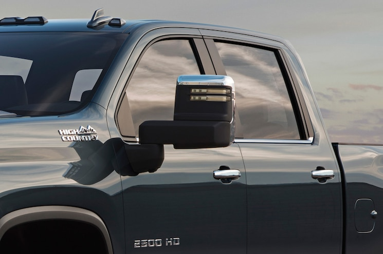 2020 Chevrolet Silverado 2500hd High Country Mirror Closeup