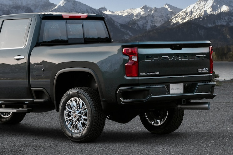2020 Chevrolet Silverado 2500hd High Country Rear End Closeup