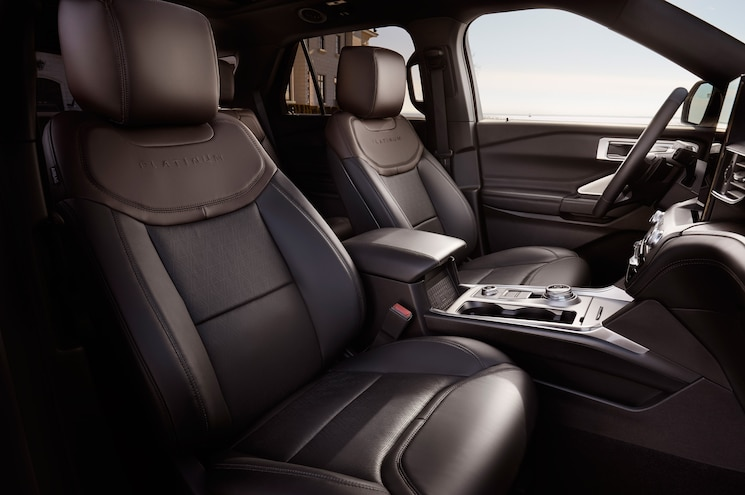 2020 Ford Explorer Platinum Interior Front Seats