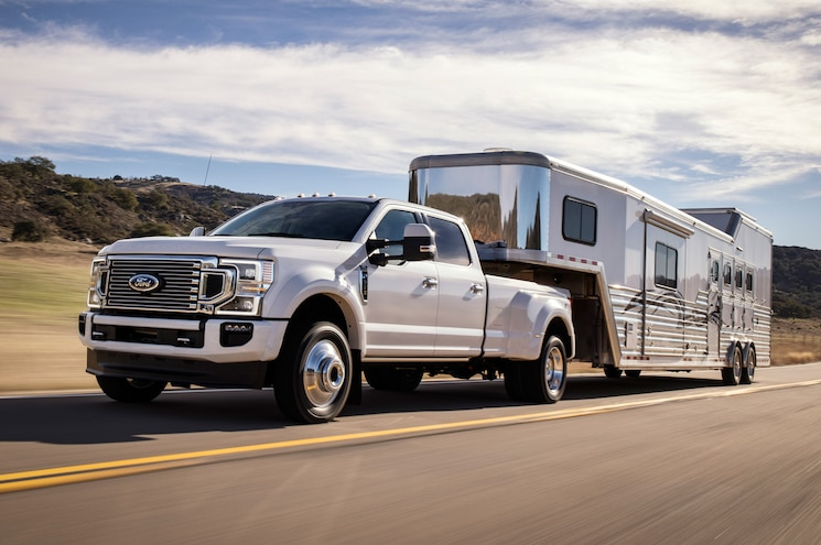 2020 Ford F 450 Super Duty Limited Exterior Front Quarter 04 Towing