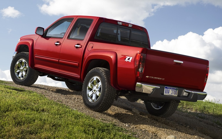 2011 Chevrolet Colorado Rear Three Quarter View In Motion