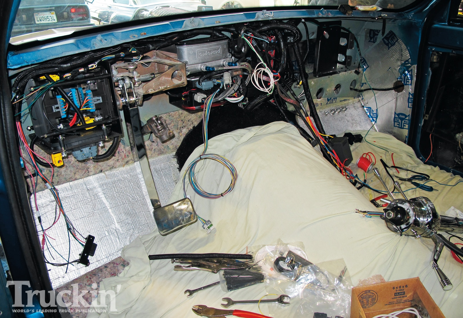 Wiring Harness Installed - Engine Mechanical Components on