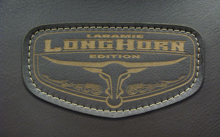2011 Ram Laramie Longhorn Badge On Seat
