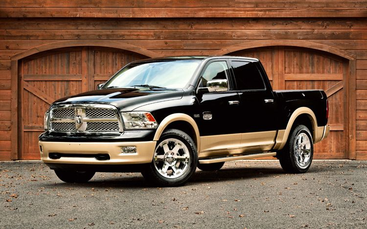 2011 Ram Laramie Longhorn Front View With Garage