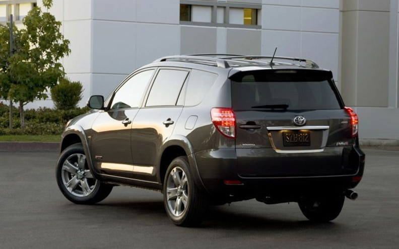 2011 Toyota Rav4 Rear Three Quarter View