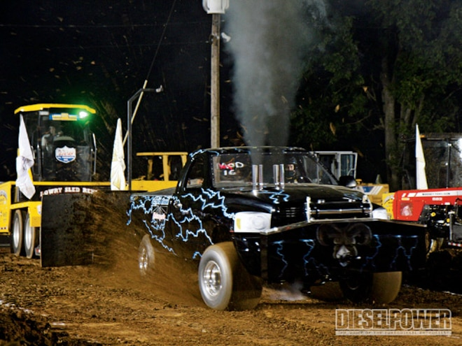 sheid Diesel Super Stock Pulling Truck right Front Angle