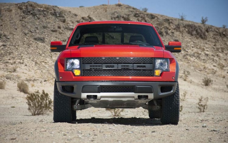 2010 Ford F150 SVT Raptor front View