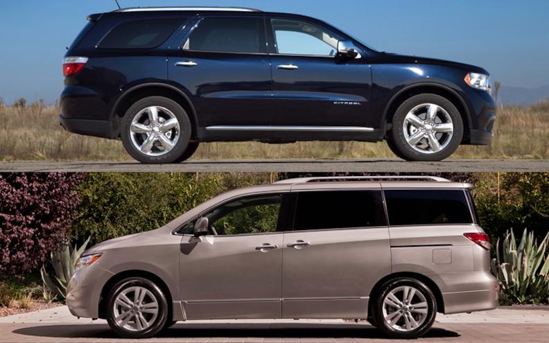 Comparing Minivans with Seven-Passenger Crossovers/SUVs