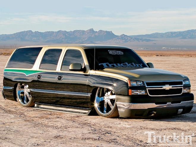 2002 chevy suburban custom suv truckin magazine truck trend