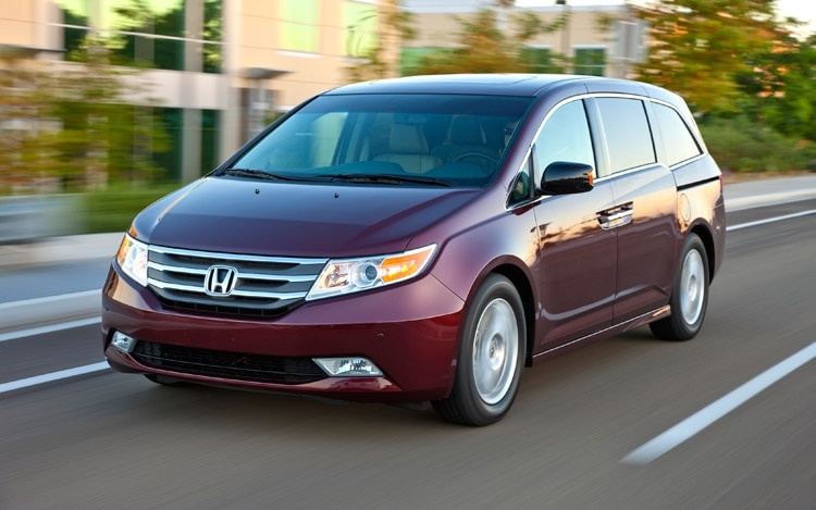 2011 Honda Odyssey Touring Three Quarters In Motion