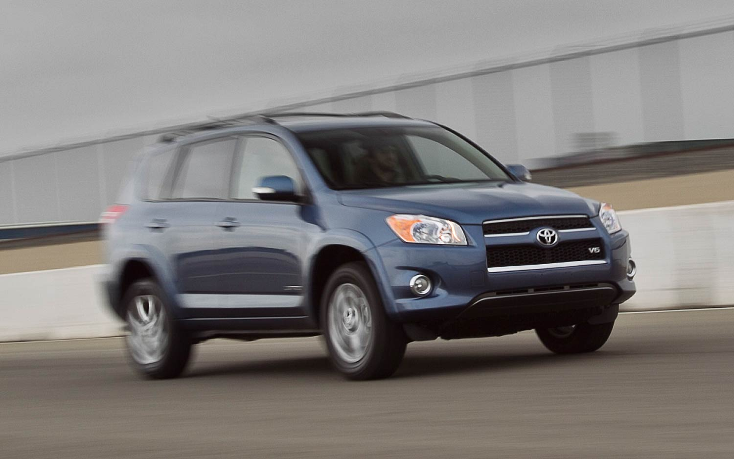 2011 Toyota Rav4 Limited V 6 Front Three Quarters In Motion