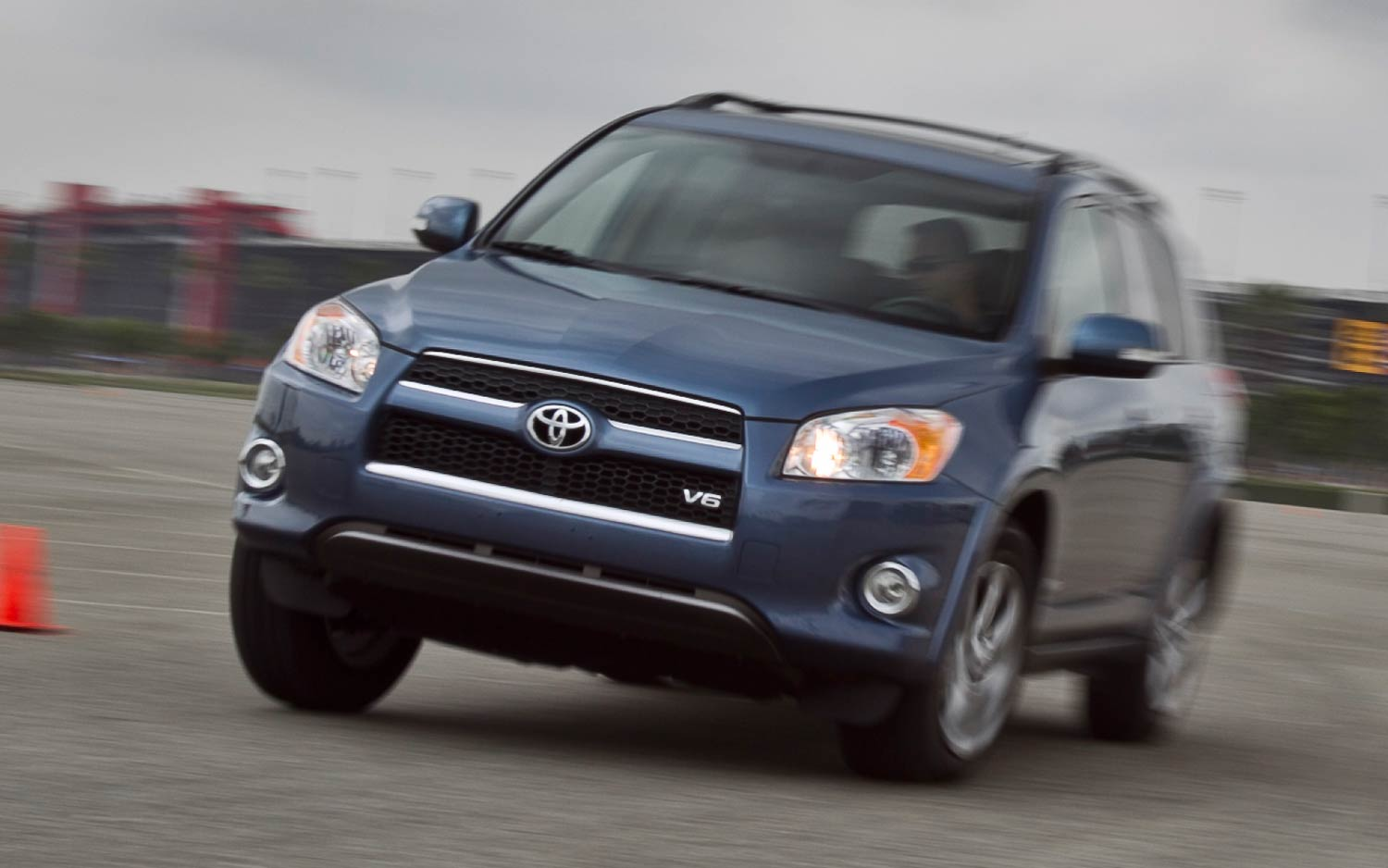 2011 Toyota Rav4 Limited V 6 Front View In Motion