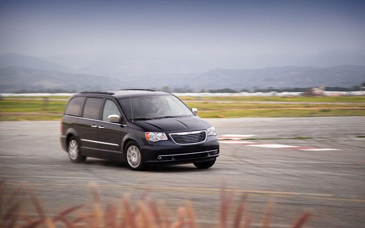 2011 Chrysler Town And Country Touring Front Three Quarter In Motion