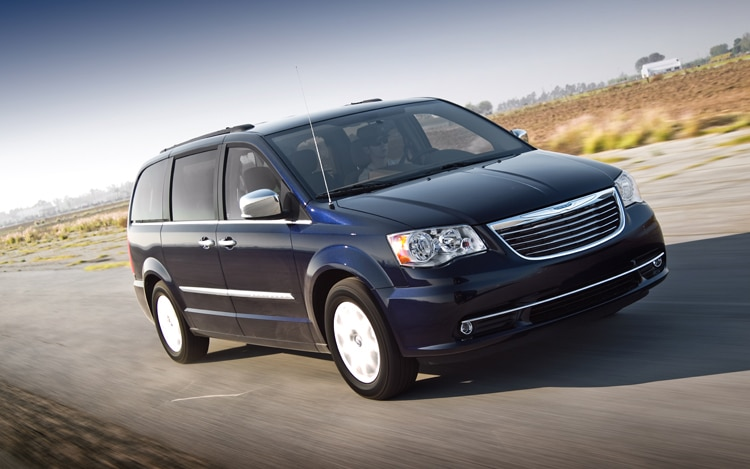 2011 Chrysler Town And Country Touring Front Three Quarters In Motion