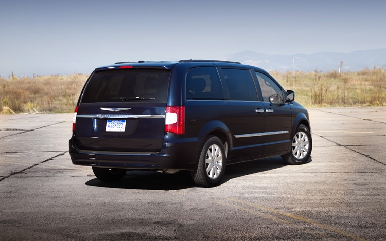 2011 Chrysler Town And Country Touring Rear Three Quarters