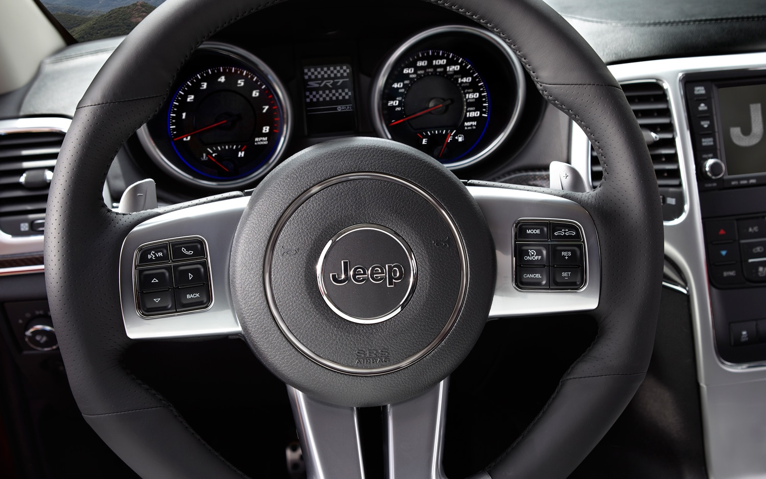 2012 Jeep Grand Cherokee SRT8 Steering Wheel