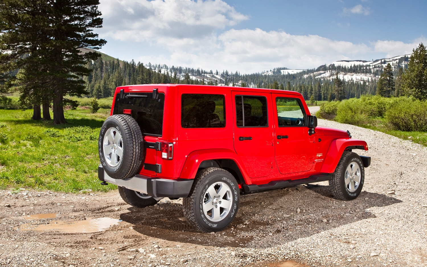 2012 Jeep Wrangler Three Quarters Rear View