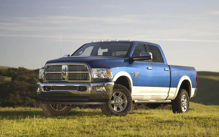 2010 Ram 2500 Front Three Quarters View