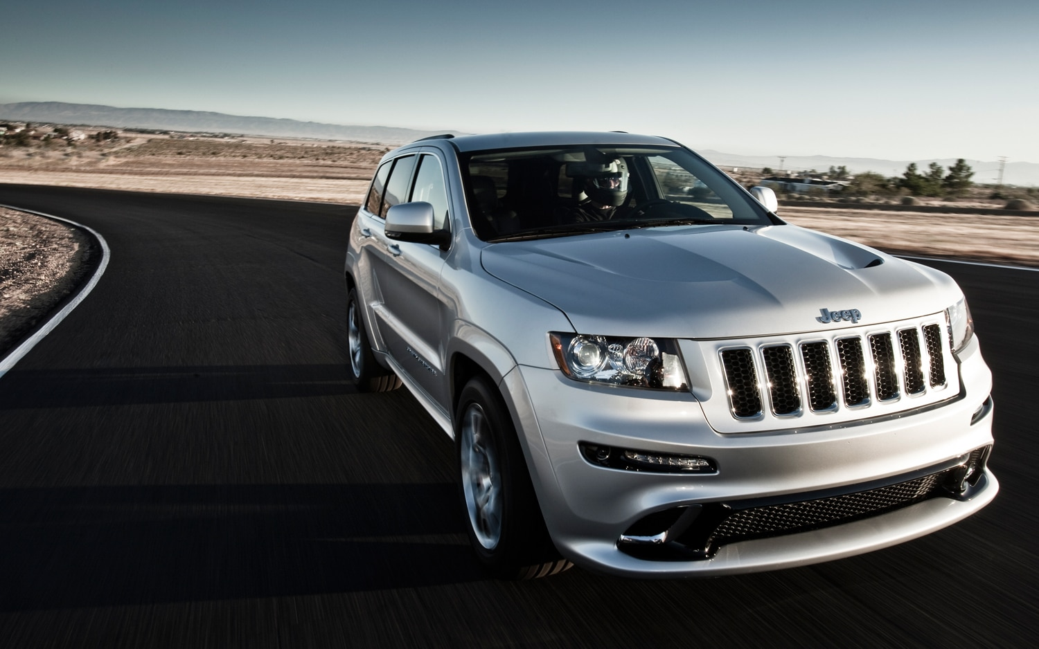 2012 Jeep Grand Cherokee SRT8 Front View In Motion