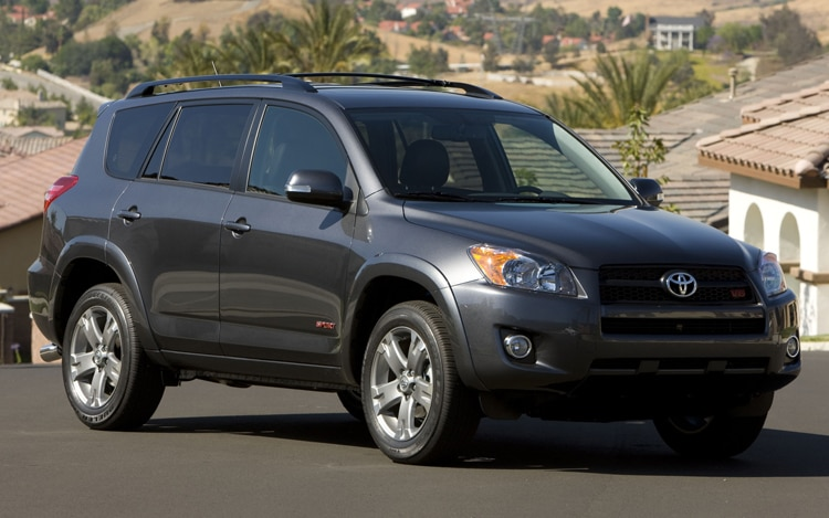 2011 Toyota RAV4 Sport Passengers Side Front Three Quarters View